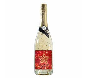 Vianočné šumivé víno so zlatom VZ001