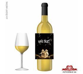 Narodeninové darčekové víno, motív 063