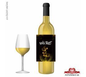 Narodeninové darčekové víno, motív 064