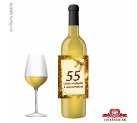 Narodeninové víno, číslo 55, motív 131