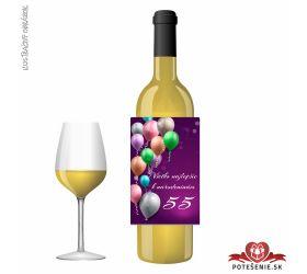 Narodeninové víno, číslo 55, motív 132