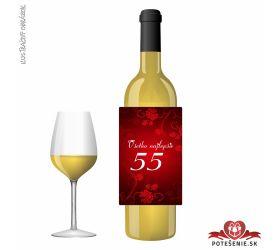 Narodeninové víno, číslo 55, motív 135