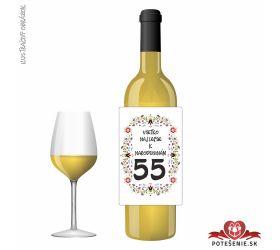 Narodeninové víno, číslo 55, motív 137