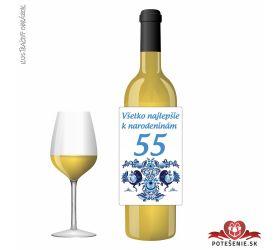Narodeninové víno, číslo 55, motív 138