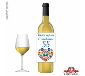 Narodeninové víno, číslo 55, motív 139