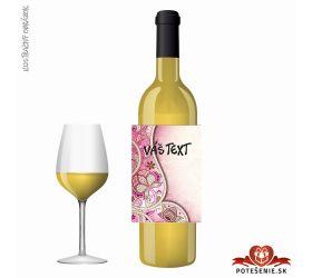 Narodeninové darčekové víno, motív 254