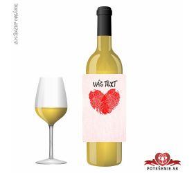 Valentínske darčekové víno, motív V021