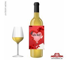 Valentínske darčekové víno, motív V020