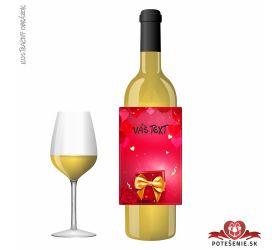 Valentínske darčekové víno, motív V018