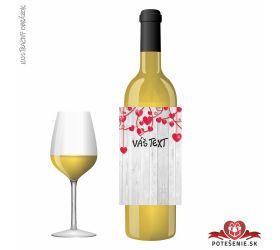 Valentínske darčekové víno, motív V016