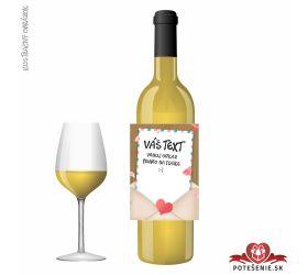 Valentínske darčekové víno, motív V011