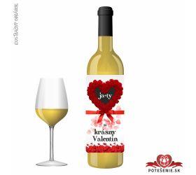 Valentínske darčekové víno, motív V012