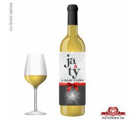 Valentínske darčekové víno, motív V008