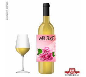Valentínske darčekové víno, motív V007