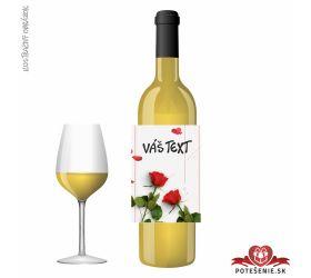 Valentínske darčekové víno, motív V004