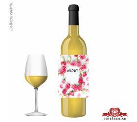 Valentínske darčekové víno, motív V001