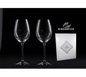Pohár na víno Gravity, Swarovski Elements, 470 ml 2 ks