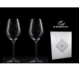 Pohár na víno Gravity, Swarovski Elements, 360 ml 2 ks