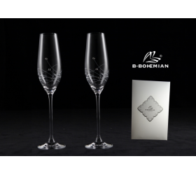 Pohár na šampanské GRAVITY 210 ml 2 ks flauta, Swarovski Elements