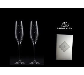 Pohár na šampanské STAR 210 ml 2 ks, Swarovski Elements