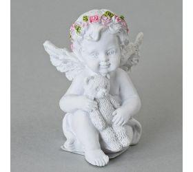 Anjel s medvedíkom polyrez. mix3 6,5cm