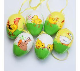 Vajíčka plast vzor 4x6cm s/6