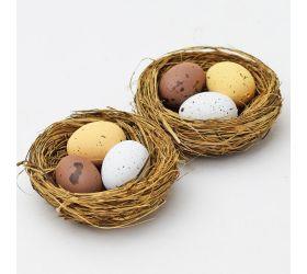 Vajíčka v hniezde hnedé s/2 mix farba 5,5cm