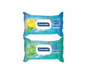 Freshmaker antibakteriálne vlhčené obrúsky na ruky a telo 120 ks