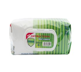 DETOX antibakteriálne vlhčené obrúsky 120 ks