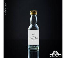 Prázdna svadobná mini fľaštička Gold 40 ml