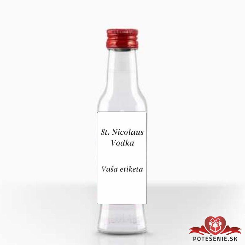 Svadobná fľaštička s alkoholom, motív S430 - Svadobné fľaštičky veľké